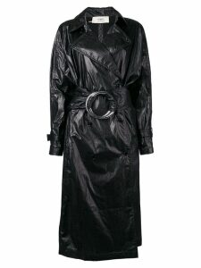 Ports 1961 ring belt trench coat - Black