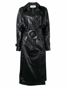 Ports 1961 ring belt trench coat - Black