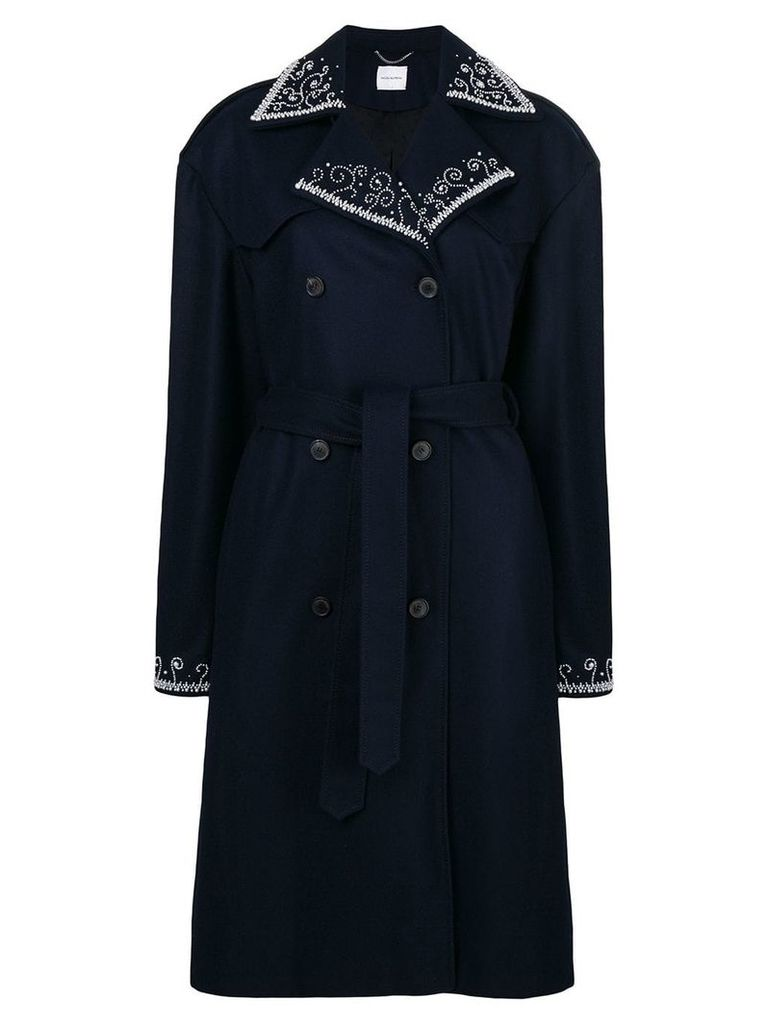 Magda Butrym double breasted trench coat - Blue
