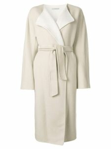 Dusan oversized belted coat - Neutrals