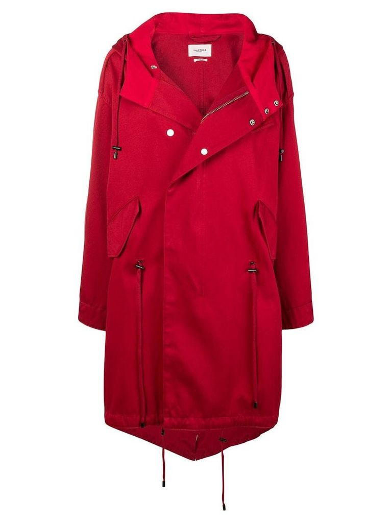 Isabel Marant Étoile Duffy hooded trench coat - Red