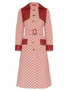 Gucci GG print canvas trench coat - Red