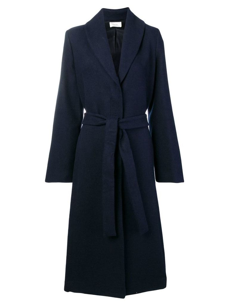 The Row long belted coat - Blue