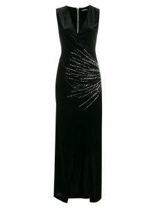 Balmain plunge neck wrap dress - Black