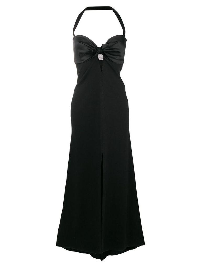 Romeo Gigli X Eggs long halterneck gown - Black