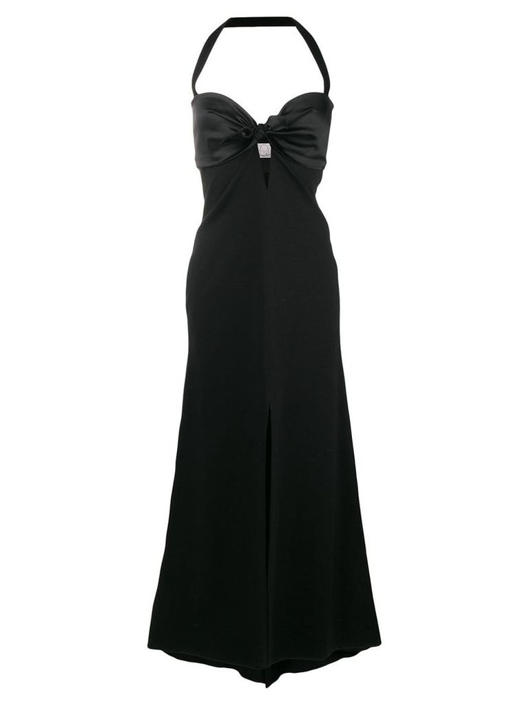 Romeo Gigli X Eggs long halterneck gown - Black