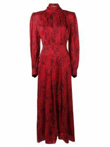 Alessandra Rich puffed sleeve dress - Red