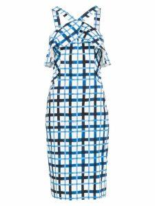 Tufi Duek check printed dress - Blue