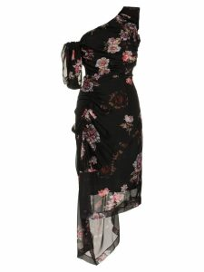 Preen By Thornton Bregazzi ada floral print one shoulder silk dress -