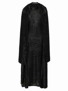 Y/Project high neck long sleeve sequin gown - Black