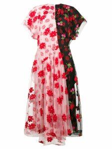 Simone Rocha Floral print tulle de chine dress - Multicolour