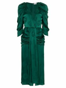 Magda Butrym downey silk jacquard dress - Green