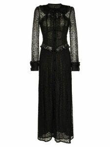Alessandra Rich Lace Maxi Dress - Black