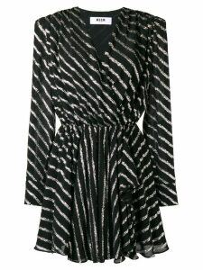 MSGM striped dress - Black