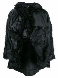 Comme Des Garçons ruffled cape - Black