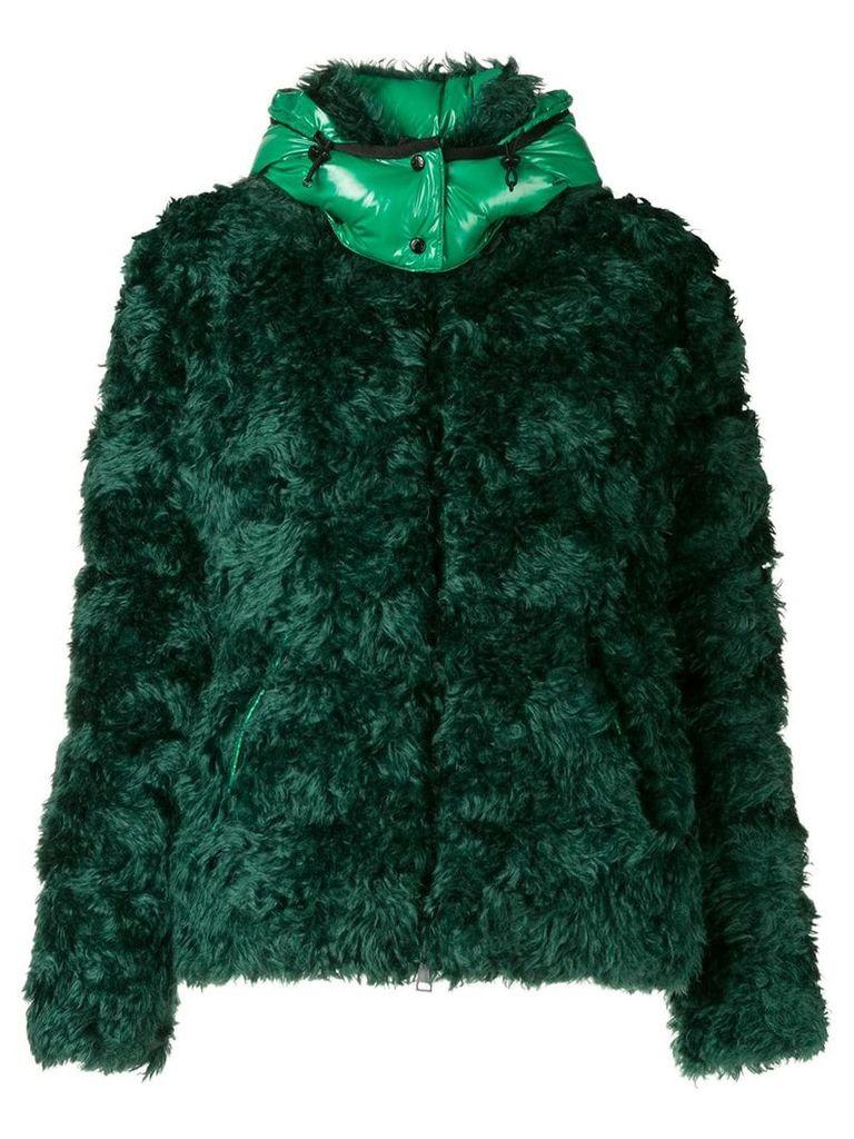 Moncler teddy puffer jacket - Green