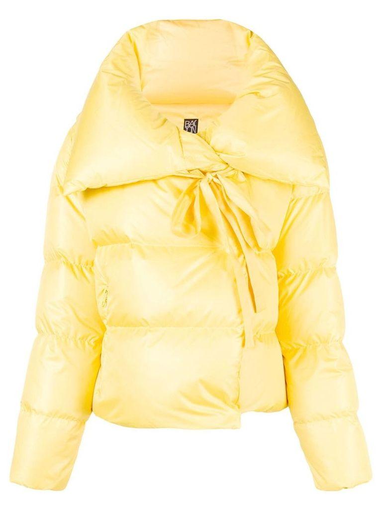 Bacon cropped padded jacket - Yellow