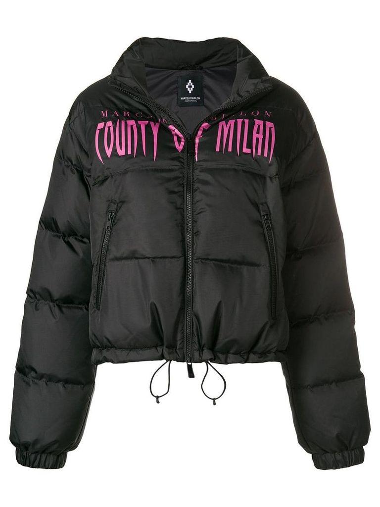 Marcelo Burlon County Of Milan logo padded jacket - Black