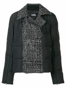Karl Lagerfeld padded boucle jacket - Black