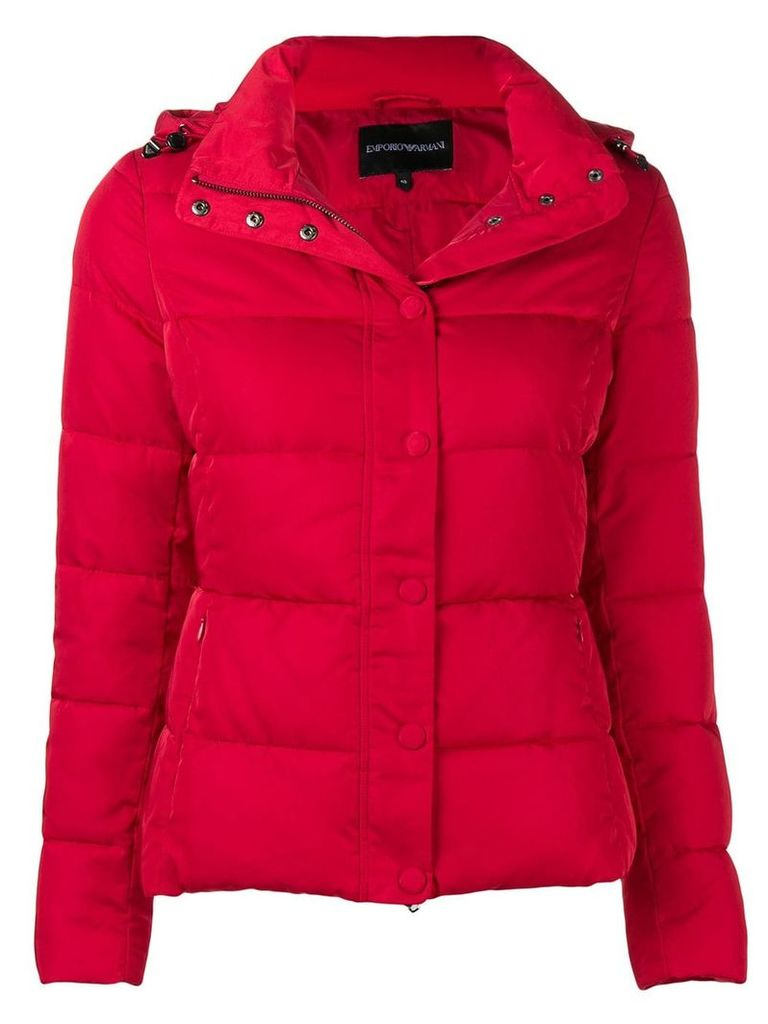 Emporio Armani padded puffer jacket - Red