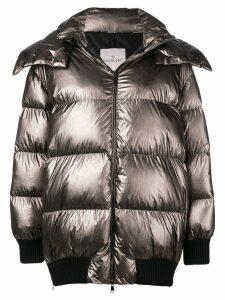 Moncler oversized puffer jacket - Metallic