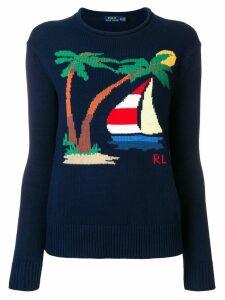 Polo Ralph Lauren nautical motif sweater - Blue