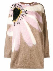 Valentino floral intarsia jumper - Neutrals