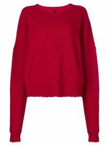Unravel Project ribbed sweater - Red
