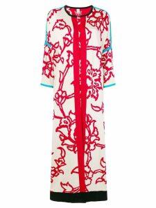 Chirazi floral print longline cardigan - Red