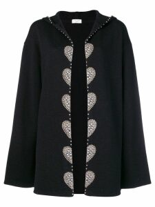 Saint Laurent embellished cardi coat - Black