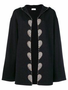 Saint Laurent embellished cardi coat - Black