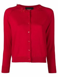 Simone Rocha beaded bow cardigan - Red