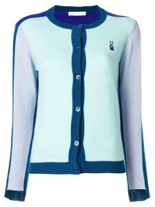 Peter Jensen colourblock cardigan - Blue