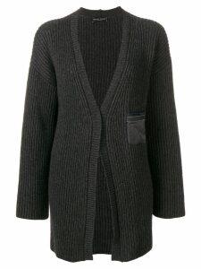 Fabiana Filippi My Private life cashmere rib knit cardigan - Grey