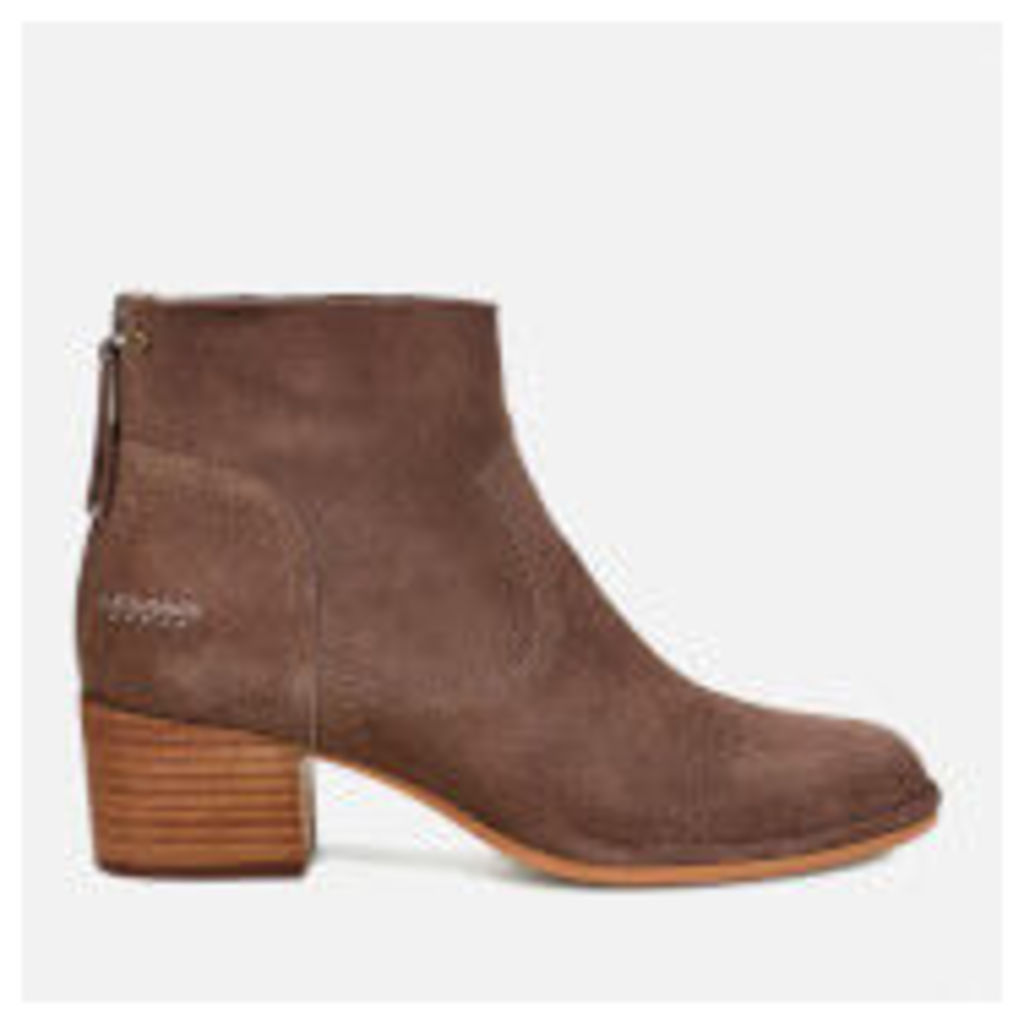 UGG Women's Bandara Suede Heeled Ankle Boots - Mysterious