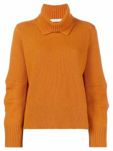 Dorothee Schumacher ribbed roll neck sweater - Yellow