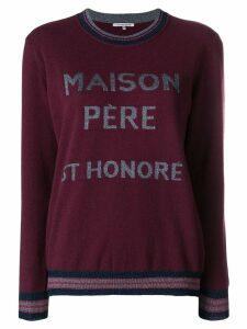 Maison Père logo knit sweater - Red
