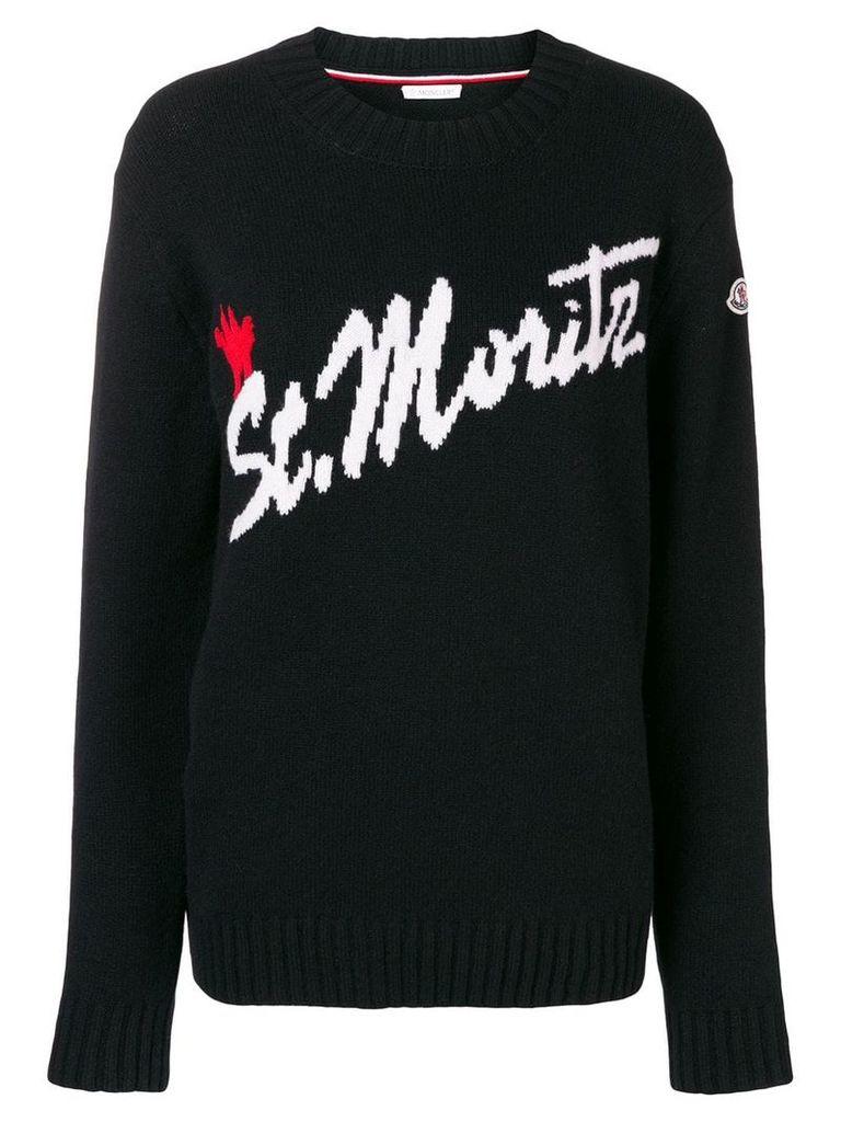 Moncler St. Mortiz sweater - Black