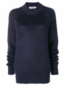 Jil Sander furry knit jumper - Blue