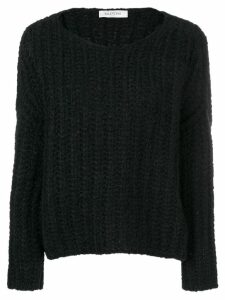 Valentino boat neck jumper - Black