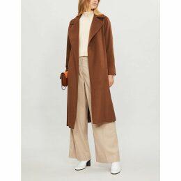 Manuela camel hair wrap coat