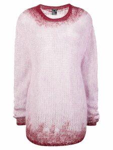 Ann Demeulemeester ombre knit jumper - Pink