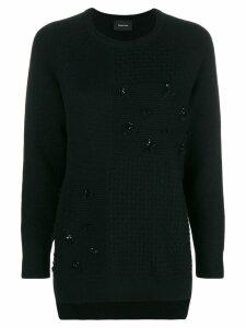Simone Rocha patchwork knit jumper - Black
