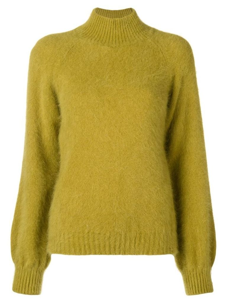 Alberta Ferretti mock neck sweater - Green