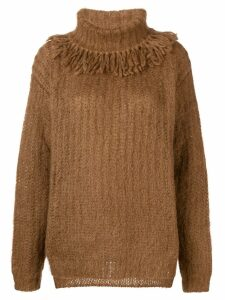 Miu Miu turtleneck sweater - Brown