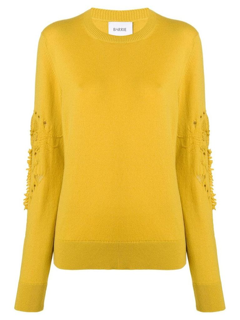 Barrie Romantic Timeless cashmere round neck pullover - Yellow