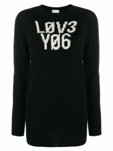 Red Valentino graphic knitted jumper - Black