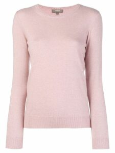 N.Peal round neck knitted sweater - Pink