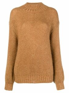 Alberta Ferretti turtleneck sweater - Brown