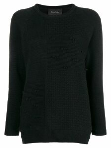 Simone Rocha patchwork knit sweater - Black
